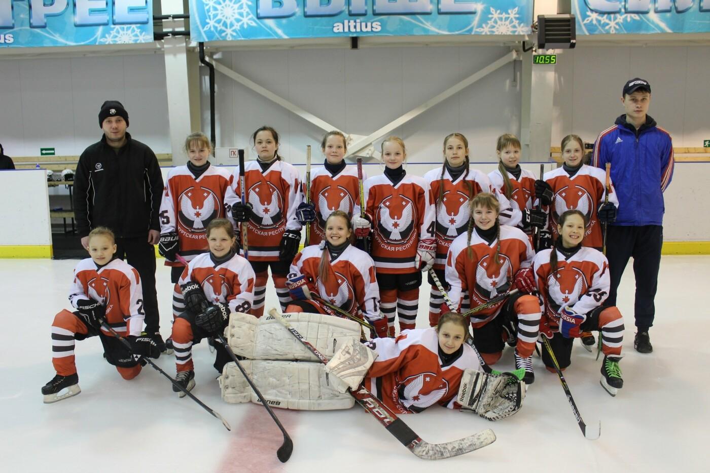 Хоккейная команда девочек из Удмуртии впервые принимает участие в турнире «Золотая шайба», фото-1